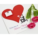 Zaproszenia na ślub Serce