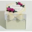 Kartka - pudełko z okazji ślubu,urodzin,narodzin personalizowane