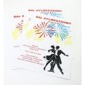 Plakaty informujące o zabawie sylwestrowej - format  A3