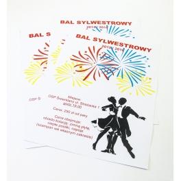 Plakaty Informujące O Zabawie Sylwestrowej 20 Szt A3
