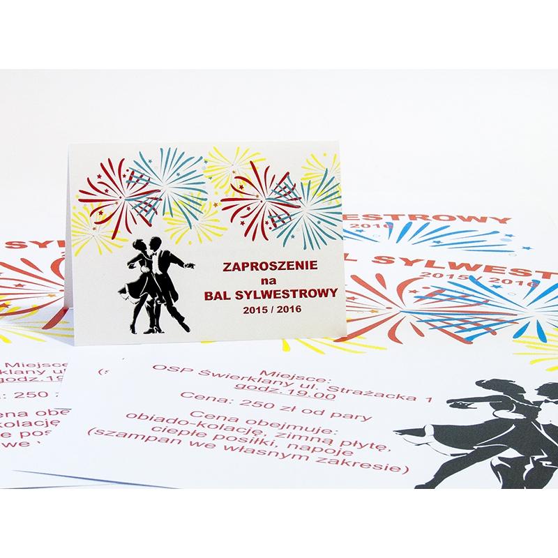 Plakaty Informujące O Zabawie Sylwestrowej Format A3