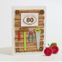 Kartka na 80 urodziny - stolarz