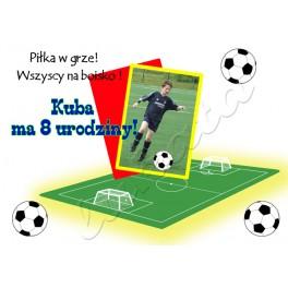 Zaproszenie Na Urodziny Dziecka Piłkarz Ze Zdjęciem