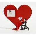Dekoracja ślubna na stół serce